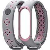 Xiaomi Mi Band 3 Mijoas Silicone Wristband Strap - Pink and Grey