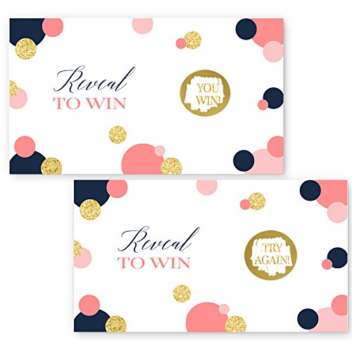 Mod Dot Scratch Off Card Navy and Coral (28 ()