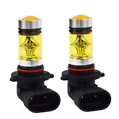 2X 9006 HB4 100W 2323 LED 4300K YELLOW Fog Driving Light Bulbs: Automotive