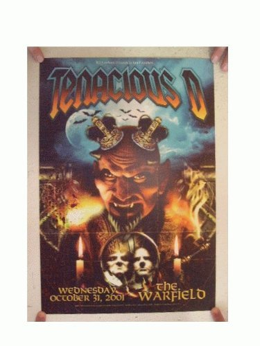 Tenacious D Concert Poster The Warfield October 31, 2001 Jack Black