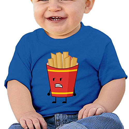 Fry Costume Jacket (French Fries 6 - 24 Months Baby T-shirts Round Neck Shirt 6 M)