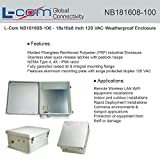 L-COM NB181608-100 ENCLOSURE, WALL MOUNT, POLYESTER, GREY