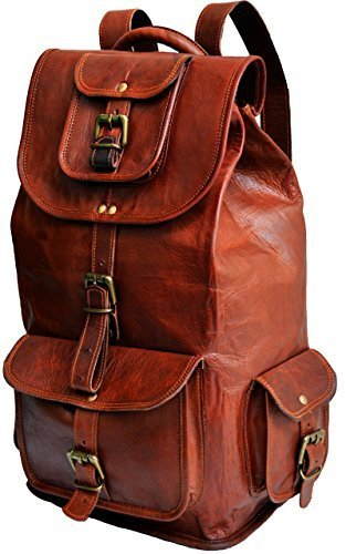 ec2f183505 Leather Bag Vintage Handmade Trendy Backpack Bag for Unisex by Pranjals  house  Amazon.in  Bags