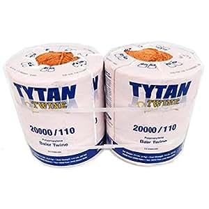 Tytan International PBT20110TONBP 20,000 ft. Orange Baler Twine, Pack 2 /RM#G4H4E54 E4R46T32576000