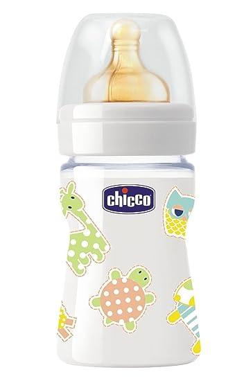 Chicco Baby Nature Fl/äschchen aus Glas mit Sauger aus Latex 150/ml
