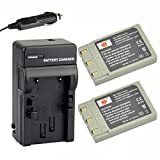 DSTE 2x NP-500 Rechargeable Li-ion Battery + DC17 Travel and Car Charger Adapter for Konica Minolta Revio KD-400Z 410Z 420Z 500Z 510Z Dimage G530 G600 G500 Camera as NP-600 DR-LB4