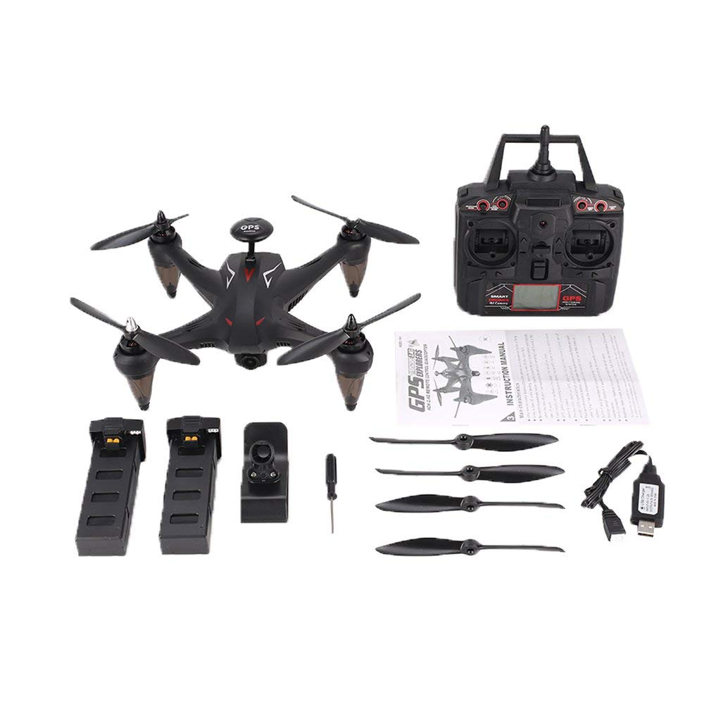 CHOULI GLOBAL Drone GW198 GPS Brushless 5G WiFi 720P Kamera FPV Drone RC Follow Me Schwarz