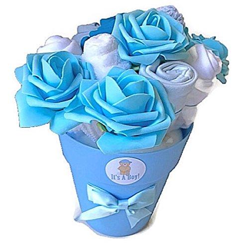 B/éb/é Gar/çon nouveau-n/é Bouquet de v/êtements pour b/éb/é Cadeau de douche Nouvelle Maman