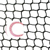ball containment net - 10' High X 30' Wide Sports Barrier & Containment Netting, #36 Polypro Netting, Serged Cord Edge Bordering, Baseball, Softball, Hockey, Lacrosse, Soccer, Basketball, Tennis, Volleyball, Multipurpose