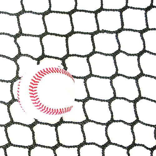 10' High X 20' Wide Sports Barrier & Containment Netting, #36 Polypro Netting, Serged Cord Edge Bordering, Baseball, Softball, Hockey, Lacrosse, Soccer, Basketball, Tennis, Volleyball, Multipurpose by Gourock