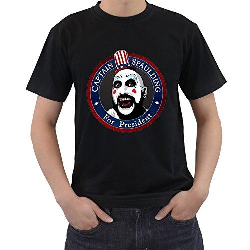 [Captain Spaulding For President T-Shirt Short Sleeve By Saink Black Size L] (Afro Samurai Bear Costume)