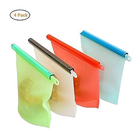 Bolsas de silicona reutilizables para alimentos, para ...