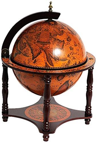 Old Modern Handicrafts Globe Bar 4 Legged Stand, 13-Inch, Red