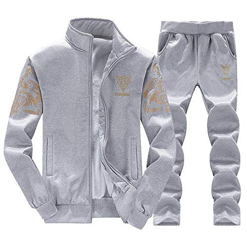 DaySeventh Men's Autumn Winter Thicken Sweatshirt Top Pants Sets Sports Suit Tracksuit -
