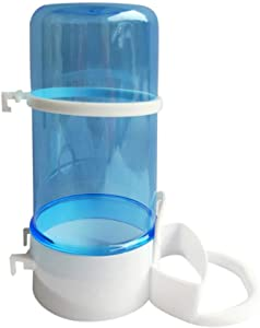 Tutuba Bird Feed Water Dispenser, Automatic Bird Waterer Food Feeder,Small Ainimal Food Container Dispenser for Cage
