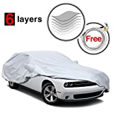 #9: Challenger Cover for Dodge Challenger 2008-2017, 6 Layers All Weather Waterproof, Windproof, Dustproof, Scratch Proof, Car Cover for Dodge Challenger, Free Windproof Ribbon