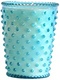 K. Hall Designs No-74 Cucumber and Gin Hobnail Glass Candle, 16-Ounce