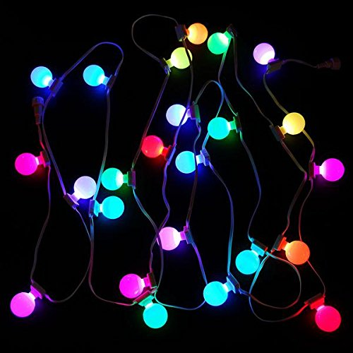 LED RGB G40 12'' Spacing Light Strings, 25 Lights, 25' Run, With Power Supply & Remote Controller by Minleon (Image #2)
