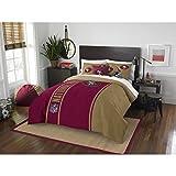 San Francisco 49ers Comforter Set Bedding Shams NFL 3 Piece Full Size 1 Comforter 2 Shams Football Linen Applique Bedroom Decor Imported Sold byMBG.4u.