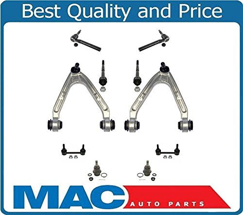 2009 10 Piece - 2007-2010 Hummer H3 10 Piece Chassis Kit Upper Arms Lower Ball Joints Tie Rod Sway Bar Links