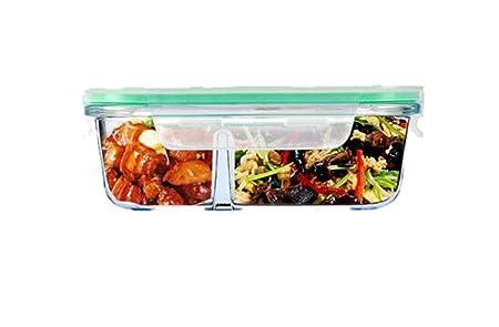 Fiambrera de cristal transparente resistente al calor, caja de ...