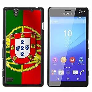 LECELL--Funda protectora / Cubierta / Piel For Sony Xperia C4 -- La bandera de Portugal --