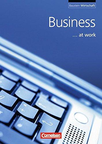 Baustein - Wirtschaft: A2 - Business at work: Schülerbuch