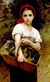 numbers art print - william bouguereau print the grape picker-DIY Painting Home Decorative Art Picture Paint by number kit 16x20 inch Frameless