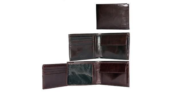 BOSS HUGO nuevo piel de canguro de cuero para hombre cartera de colour negro o marrón, color Marrón, talla one size: Amazon.es: Ropa y accesorios