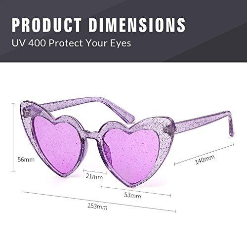 Gafas de forma de coraz sol en 0UfRnqWU