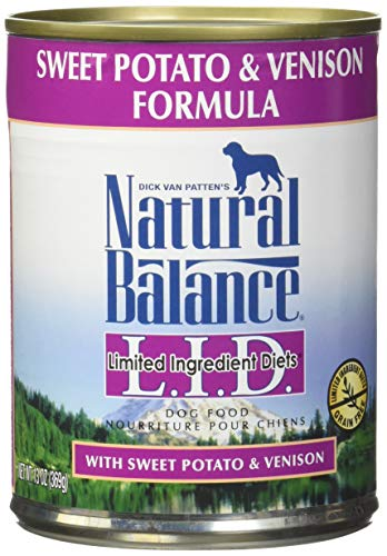Natural Balance L.I.D. Limited Ingredient Diets Canned Dog Food, Sweet Potato & Venison Formula, 13-Ounce Cans (Pack Of ()
