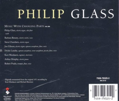 P. Glass - Music With Changing Parts - Amazon.com Music e612baedc1c67