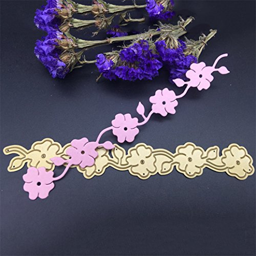 Gilroy DIY Craft Flower Borderline Metal Cutting Dies Stamper Stencils for Scrapbooking Album Paper Cards
