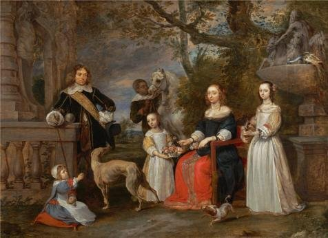 Snap Drape Wholesale Table ('Gonzales Coques,Family Portrait In A Landscape,17th Century' Oil Painting, 20x28 Inch / 51x70 Cm ,printed On High Quality Polyster Canvas ,this Reproductions Art Decorative Canvas Prints Is Perfectly Suitalbe For)