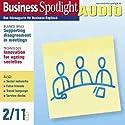 Business Spotlight Audio - Supporting disagreement in meetings. 2/2011: Business Englisch lernen Audio - Verhalten bei Meetings Hörbuch von  div. Gesprochen von:  div.