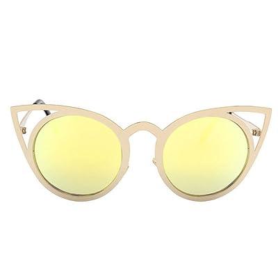 2018 Fashion Cat Eye Lunettes de soleil Femme Brand designer Lunettes de soleil pour femmes Vintage Miroir Œil de chat femelle de couleur