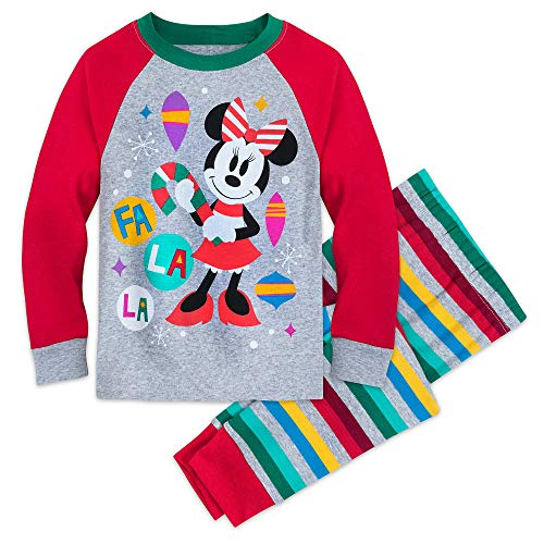 Disney Minnie Mouse Christmas Pajamas for Kids Size 7 Multi Disney Store Girls Pajamas
