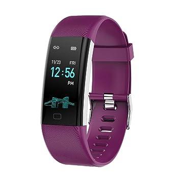 Reloj de pulsera inteligente relojes inteligentes para hombres de Smart Watch para mujeres Reloj de pulsera inteligente BT correa color con pantalla de ...