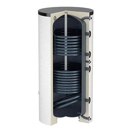 300 Liter de búfer de almacenamiento de agua potable de memoria DUO solar + 2 intercambiador