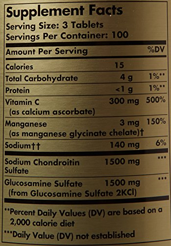 Solgar, Extra Strength Glucosamine Chondroitin Complex 300 Tablets by Solgar (Image #1)