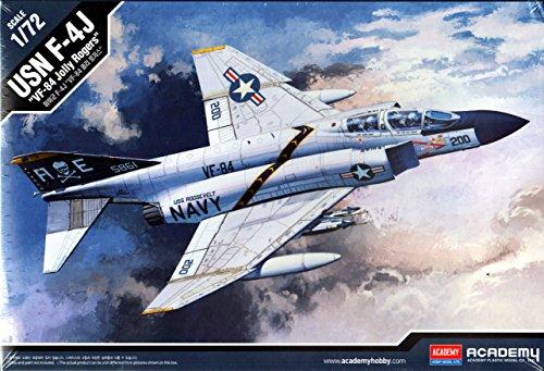 1/72 Usn F-4j Vf-84 Jolly Rogers #12529 Academy (Usn 84 Vf Rogers Jolly)
