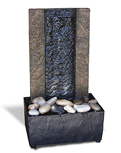 Cascading Rain Wall LED Tabletop Water Fountain with Adapter (included)