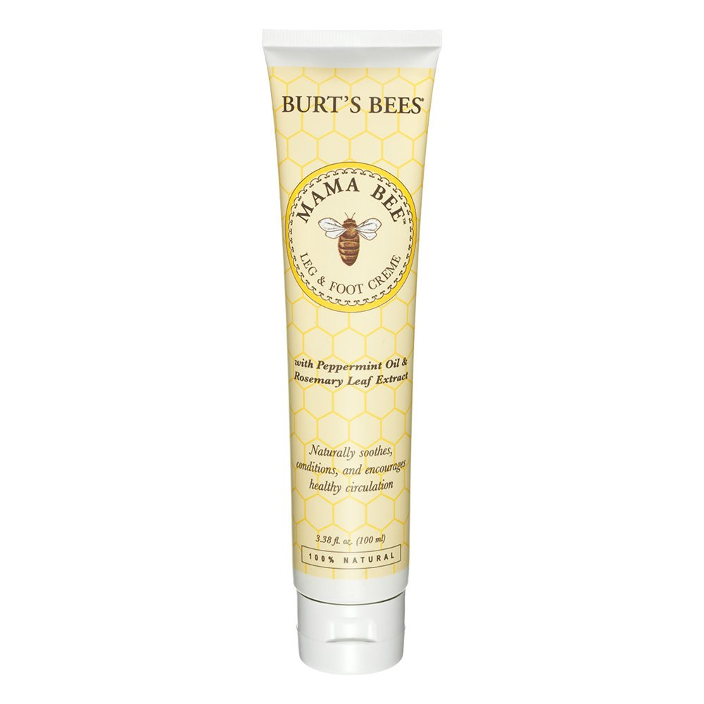 Burt's Bees Mama Bee Leg & Foot Cream with Peppermint Oil - 3.38 Ounce Tube (Pack of 2) Burt's Bees