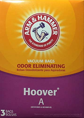 Arm & Hammer Odor Eliminating Vacuum Bags Hoover A 62601D - 3 Bags