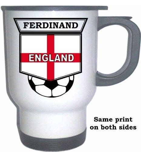 (Rio Ferdinand (England) Soccer White Stainless Steel Mug )