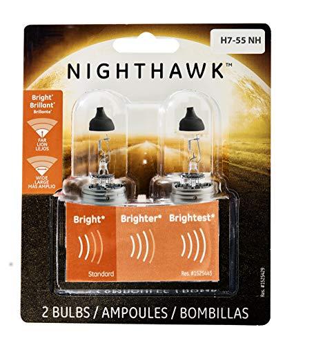 GE Lighting H7-55NH/BP2 Nighthawk Automotive Replacement Bulbs, 2-Pack ()