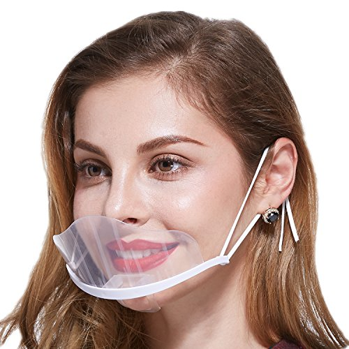 Transparent Anti-fog Plastic Sanitary Mask,for Catering,Restaurant,Kitchen,Food Cooking,Beauty,10pcs