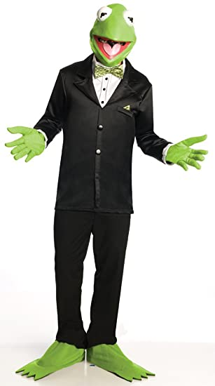 Amazon.com: Muppets Kermit The Frog Costume And Mask, Green, Small: Clothing