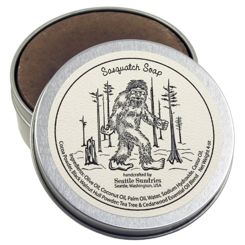 Sasquatch Soap - 100% Natural & Handcrafted, in Reusable Travel Gift Tin made our list of Unique Camping Gifts For Men