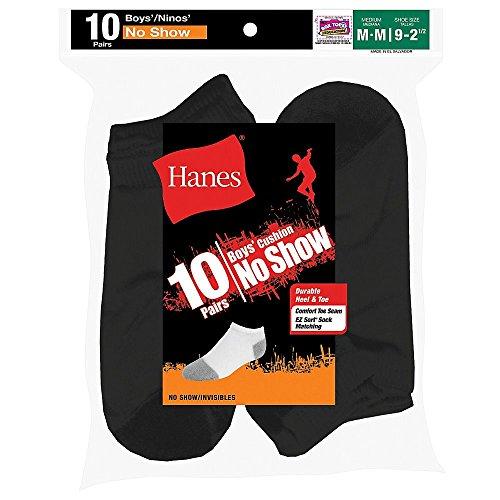 Hanes Boys Red Label Cushion No Show 10 pr, (Hanes Boys Red Label)